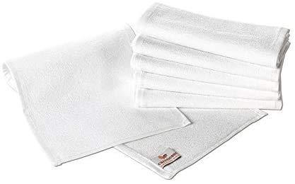 Carenesse Asciugamano da barba Set da 6, preparazione per rasoi come il barbiere, 100% cotone, 22 x 70 cm, bianco