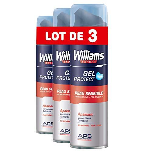 Williams Gel da Barba pelle sensibile 200ml–Set di 3
