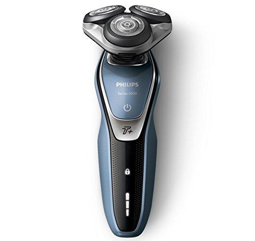 Philips Serie 5000 - Rasoio elettrico con lame MultiPrecision tecnologia Aquatec Wet & Dry/modalità Turbo +, battery-powered, 2017