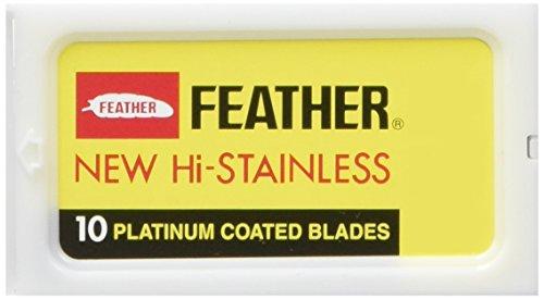 Feather - Lame a doppio filo in acciaio per rasoio di sicurezza, confezione da 30 pezzi