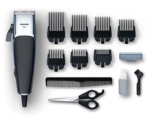 Philips HC5100/15 Pro Clipper Regolacapelli con Motore Lineare e Lame Tip2Tip, Lame 100% Inox, 7 Pettini (0.5-25 mm), Cavo da 2.80 m