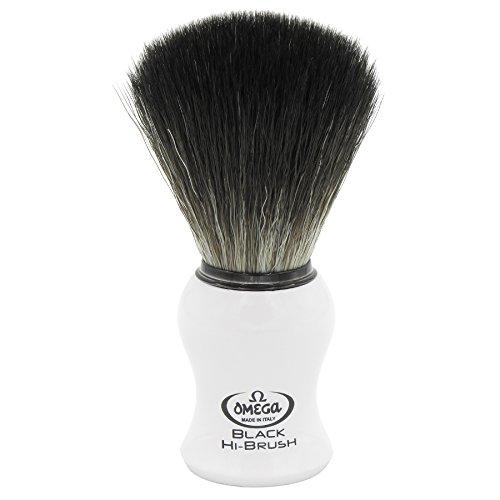 Omega 0196745 - Pennello da barba in fibra'Black Hi-Brush'