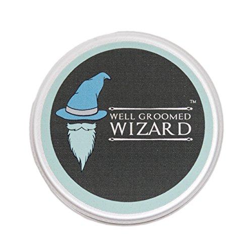 Well Groomed Wizard Cera Tenuta Forte per la Barba e Baffi | Cera D'Api e Limone | 15ml | Stile Con Un Spazzola o Pettine | Compatibile Con Olio e Balsamo | Di Alta Qualità Il Regalo Perfetto
