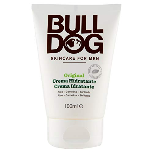 Bulldog Original Moisturiser - Crema Viso Uomo - Idratante per il Viso - Formula Arricchita con Aloe Vera, Tè Verde e Olio di Camelina - Flacone da 100 ml