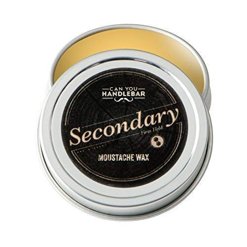 Canyouhandlebar - Secondary - Cera per baffi a tenuta forte per uomo | Ingredienti completamente naturali | 28,3 gr. Barattolo in acciaio inox