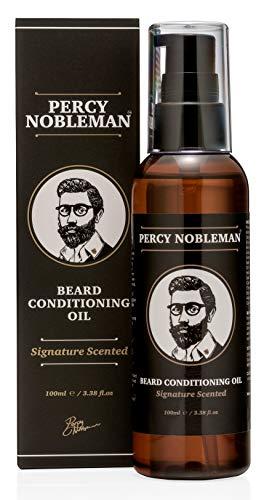Olio da barba di Percy Nobleman – Nuova miscela profumata. (100 ml) Olio Ammorbidente Da Barba contenente una miscela speciale di ingredienti di prima qualità Per Idratare e ammorbidire