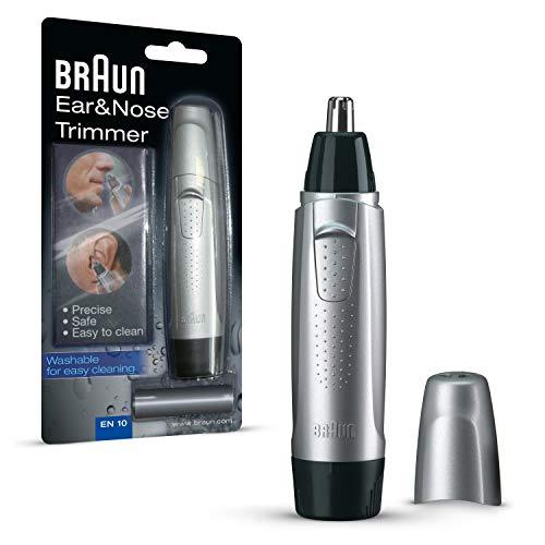 Rifinitore per naso e orecchie Braun EN10, Rimozione precisa e sicura dei peli da orecchie e naso
