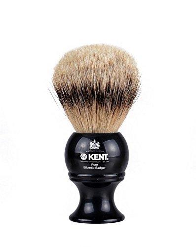 Kent Spazzola con setole pure silver tip per rasatura, media