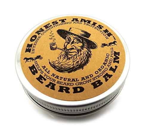 Honest Amish Balsamo per balsamo per barba - Realizzato con soli ingredienti naturali e biologici - Latta da 2 once