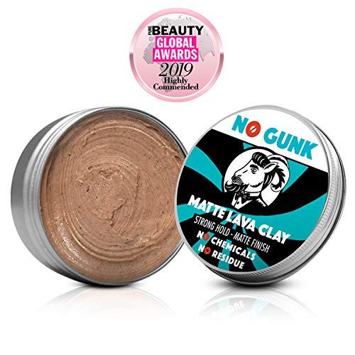 NO GUNK - Argilla lavica opaca - 100% naturale per capelli da uomo - Tenuta forte - Ingredienti naturali e biologici (Originale, 50 g)