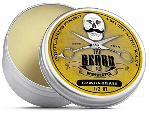 The Beard and The Wonderful, cera per baffi Whiskey on the Rocks, 15 ml, soluzione forte premium per la messa in piega di baffi e barba, per torcere e arricciare le punte