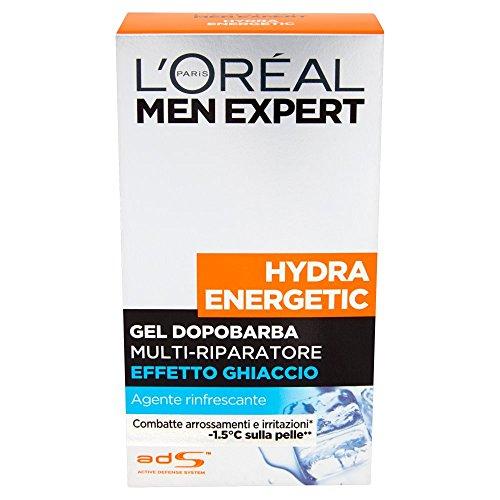 L'Oréal Paris Men Expert Dopobarba Hydra Energetic, Azione Multi-riparatrice Effetto Ghiaccio,