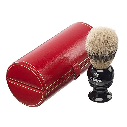 Kent Travel Pure Badger Silver tip Bristle Shaving Brush Small