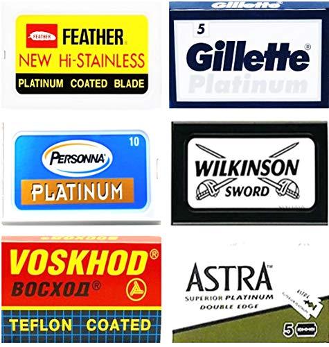 Lamette Da Barba Feather, Gillẹtte Platinum, Personna Platinum, Voskhod, Wilkinson Sword, Astra