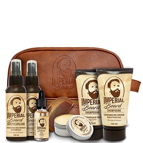 Imperial Beard - Astuccio per barba e capelli, 8 pezzi