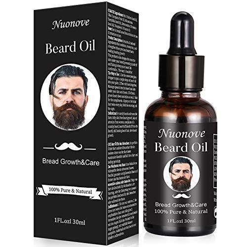 Olio da barba, Beard Growth oil, olio essenziale di oli da barba per uomo, barba, Moisturizes, Soothes, stimola la crescita e Shine, per la cura della barba lunga e corta, 30 ml
