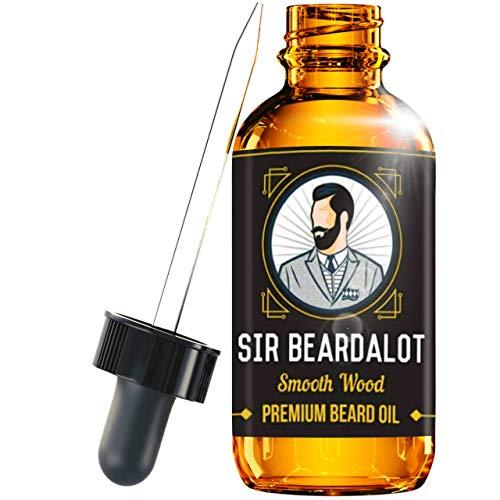 Sir Beardalot Olio da Barba per distinti Signore - Legno avvolgente per uomo - Prodotto Naturale Inglese di Qualità - Idrata e Nutre la Pelle (Bottiglia da 30ml)