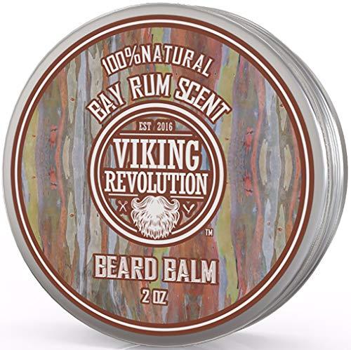Balsamo da barba di rum di alloro, tutto l'olio di argan e l'olio di jojoba normale dalla rivoluzione di Viking,