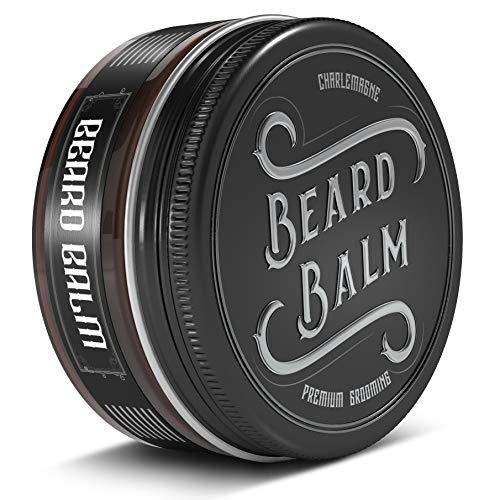 •VINCITORE DEL TEST 1,1• Charlemagne Balsamo Barba –Balsamo Barba 100% Naturale –Cera da Barba –Balsamo Barba Sviluppata da Barbieri –Balsamo Barba per la Cura della barba –Cera e Balsamo da Barba