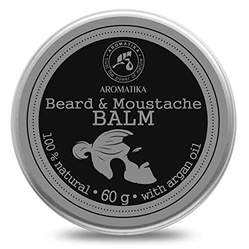 Balsamo da Barba 60g con Mandorle - Prodotto Naturale e Puro al 100% - Argan Jojoba - Cacao - Sandalo - Olio di Bergamotto - La Cura della Barba e Baffi - Bellezza - Balsamo per la Barba
