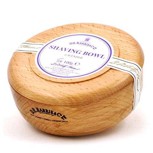 D R Harris Lavender Shaving Soap in Beech Wood Bowl (100g) by D.R. Harris